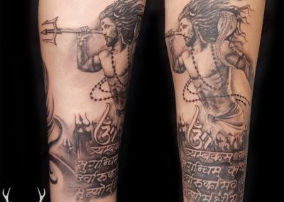 Custom Shiva Tattoo, God Tattoos for Men