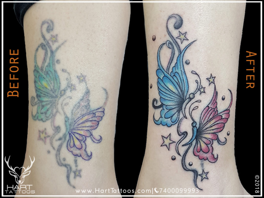 butterfly Tattoo | Tattoo design for girl | cover up tattoo