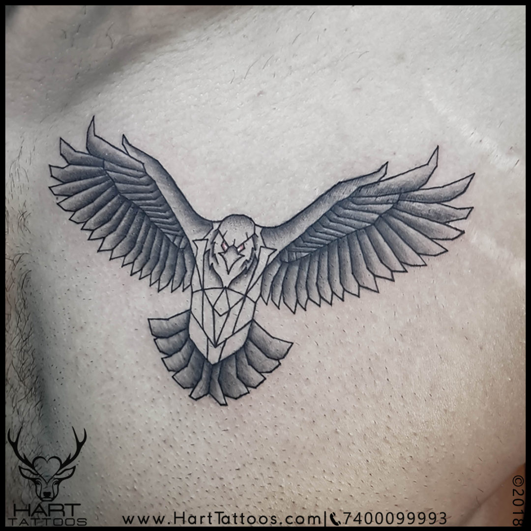 Eagle tattoo design for Men | Tattoo designs for chest | Geometric tattoo design