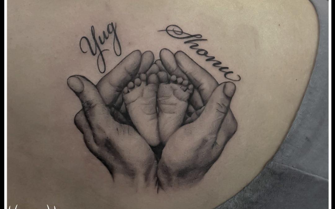 Mother's Tattoo custom Tattoo Name Tattoo Back Tattoo