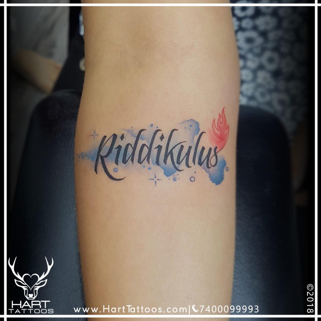 Text tattoo | Watercolor tattoo | Tattoo design for girls