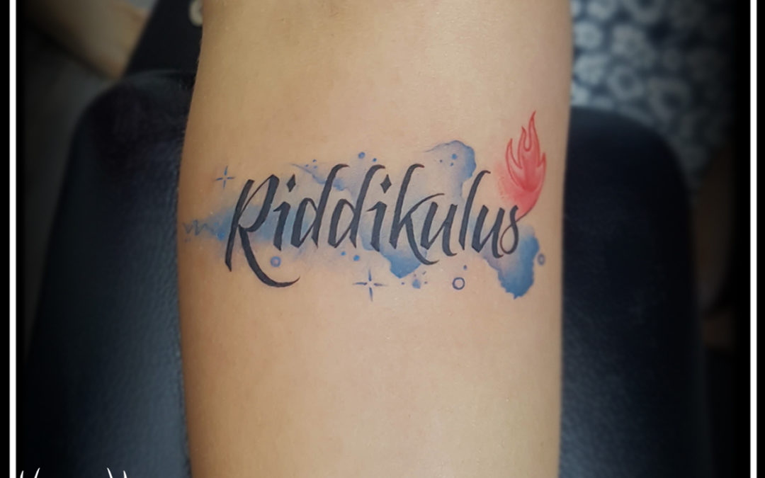 Text tattoo | Watercolor tattoo | Tattoo design for girls