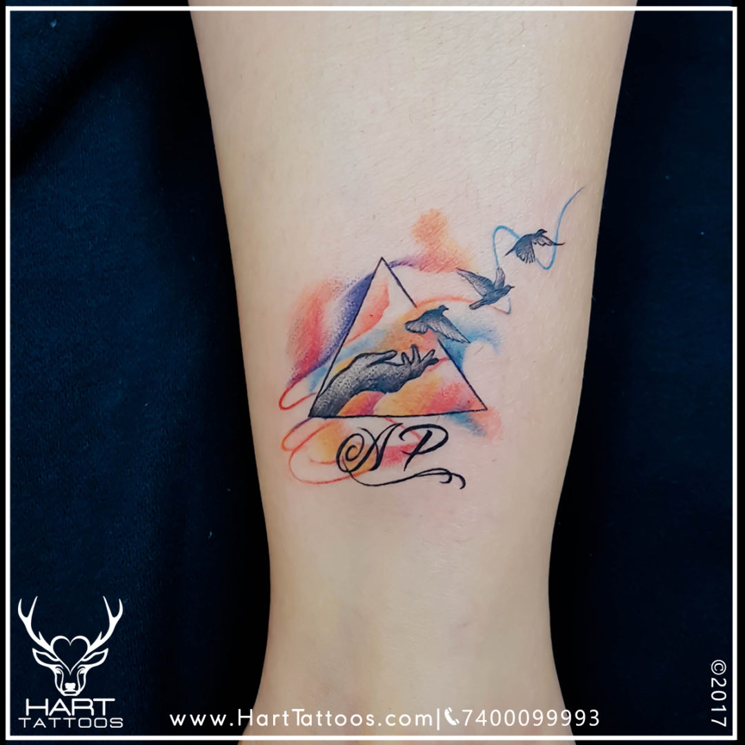 Watercolor Tattoo | Tattoo design for Girls |Custom Tattoo
