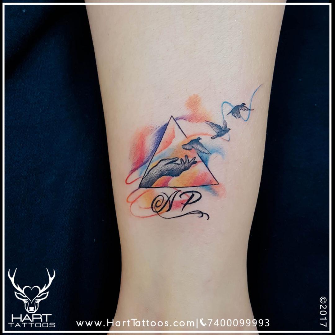 Watercolor Tattoo | Tattoo design for Girls |Custom Tattoo