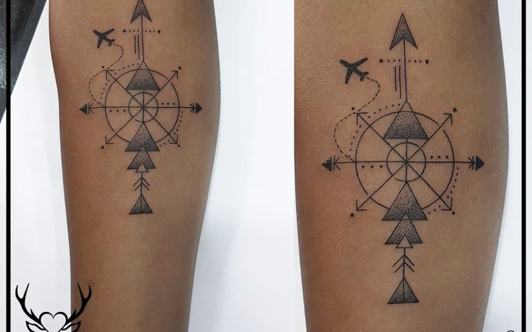 Compass Tattoo | Forearm Tattoo | Geometrical Tattoo
